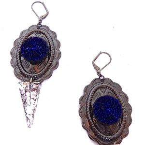 PONDEROSA MAVERICK CONCHO EARRINGS